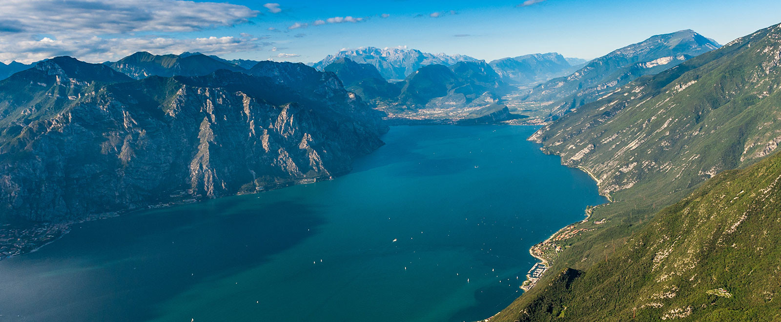 Lake garda from a paragliding tandem flight