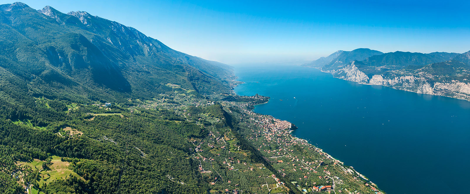 lake garda and monte baldo view from a tandem flight