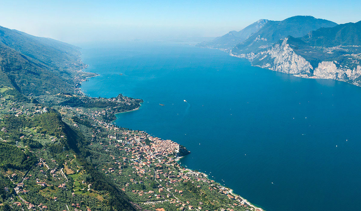 malcesine and lake garda from above