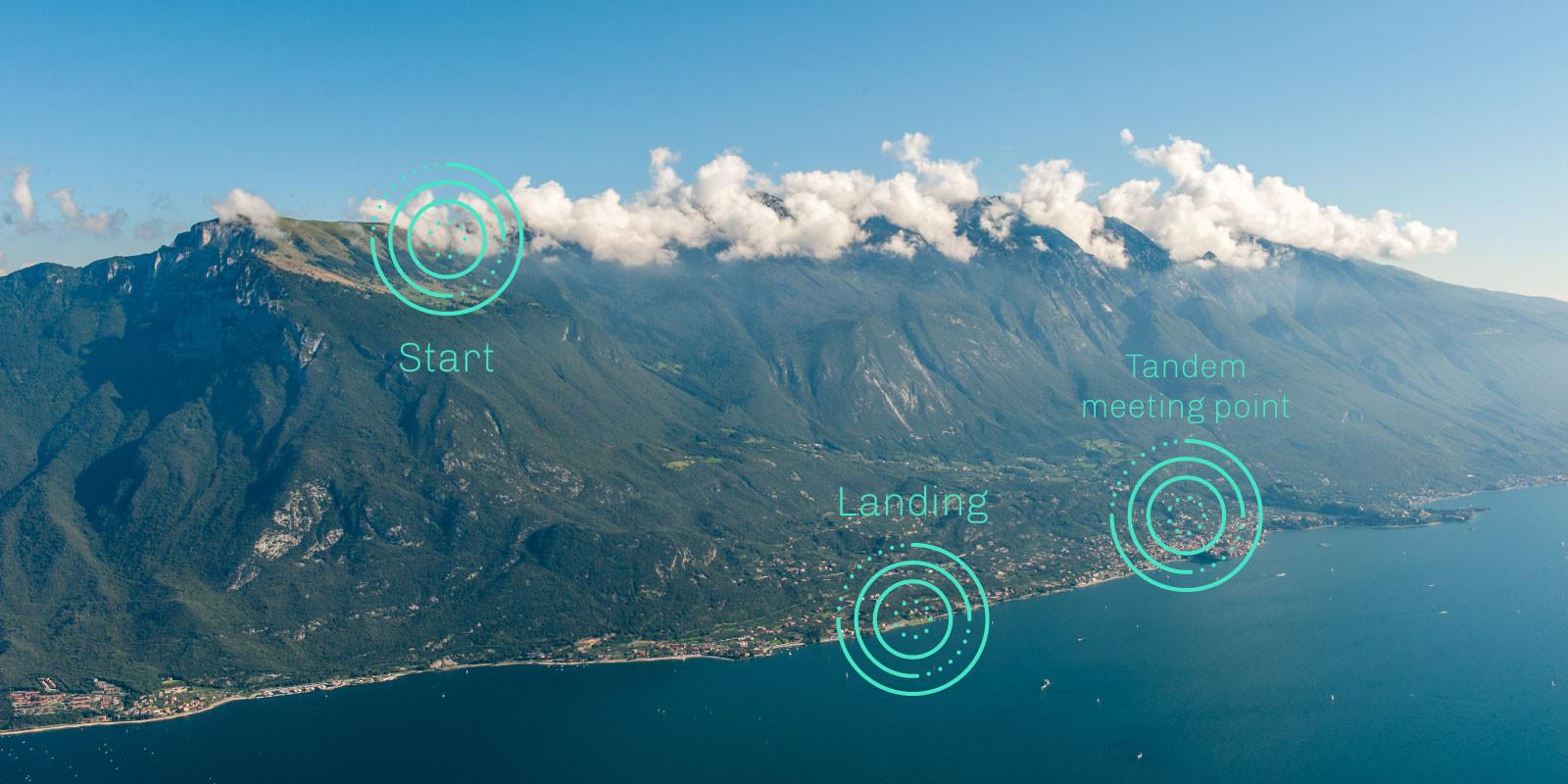 Tandem Paragliding Malcesine Meeting Point Lake Garda